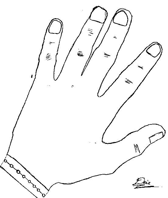 Dessin d une main deix - Dessins mains ...